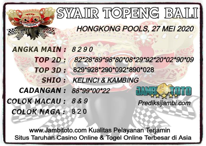 SYAIR TOPENG BALI HK