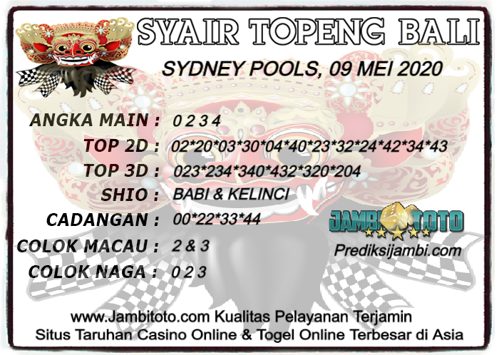 Syair Togel Sydney Sabtu 09 Mei 2020