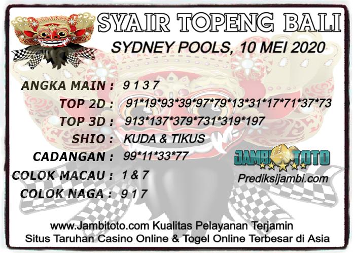 Syair Togel Sydney Minggu 10 Mei 2020