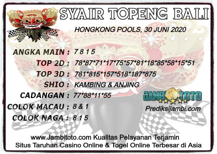Syair Topeng Bali Hk 30 Juni 2020