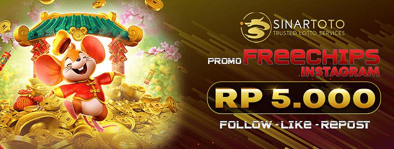 SINARTOTO - Promo Freebet Gratis Rp. 5.000 Tanpa Deposit