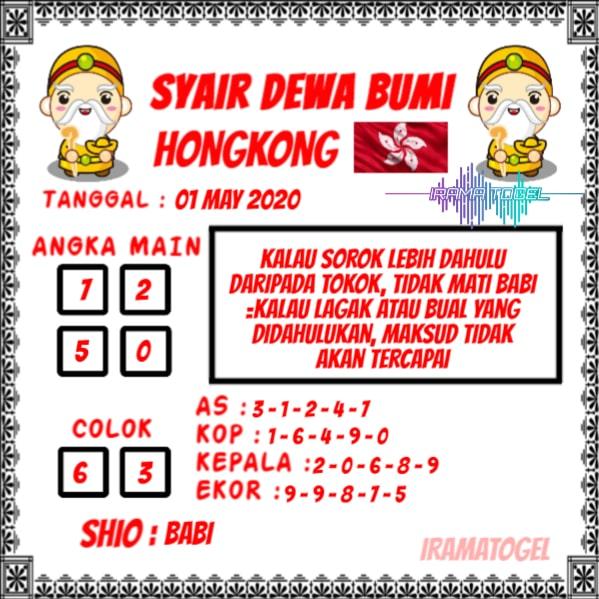 Syair Top Jitu Dewa Bumi HK Hari Ini Kamis 30 April 2020.jpg (599×599)