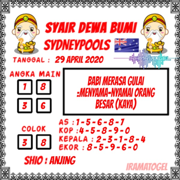 Syair Top Jitu Dewa Bumi Sydney Hari Ini Rabu 29 April 2020.jpg (599×599)