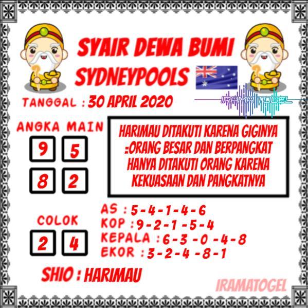 Syair Top Jitu Dewa Bumi Sydney Hari Ini Kamis 30 April 2020.jpg (599×599)