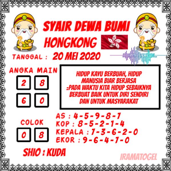 Syair Top Jitu Dewa Bumi HK Hari Ini Rabu 20 Mei 2020.png (599×599)
