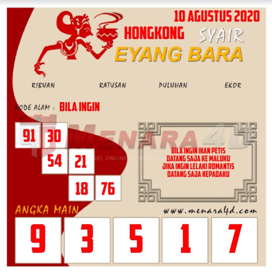 kode eyangbara togel hongkong